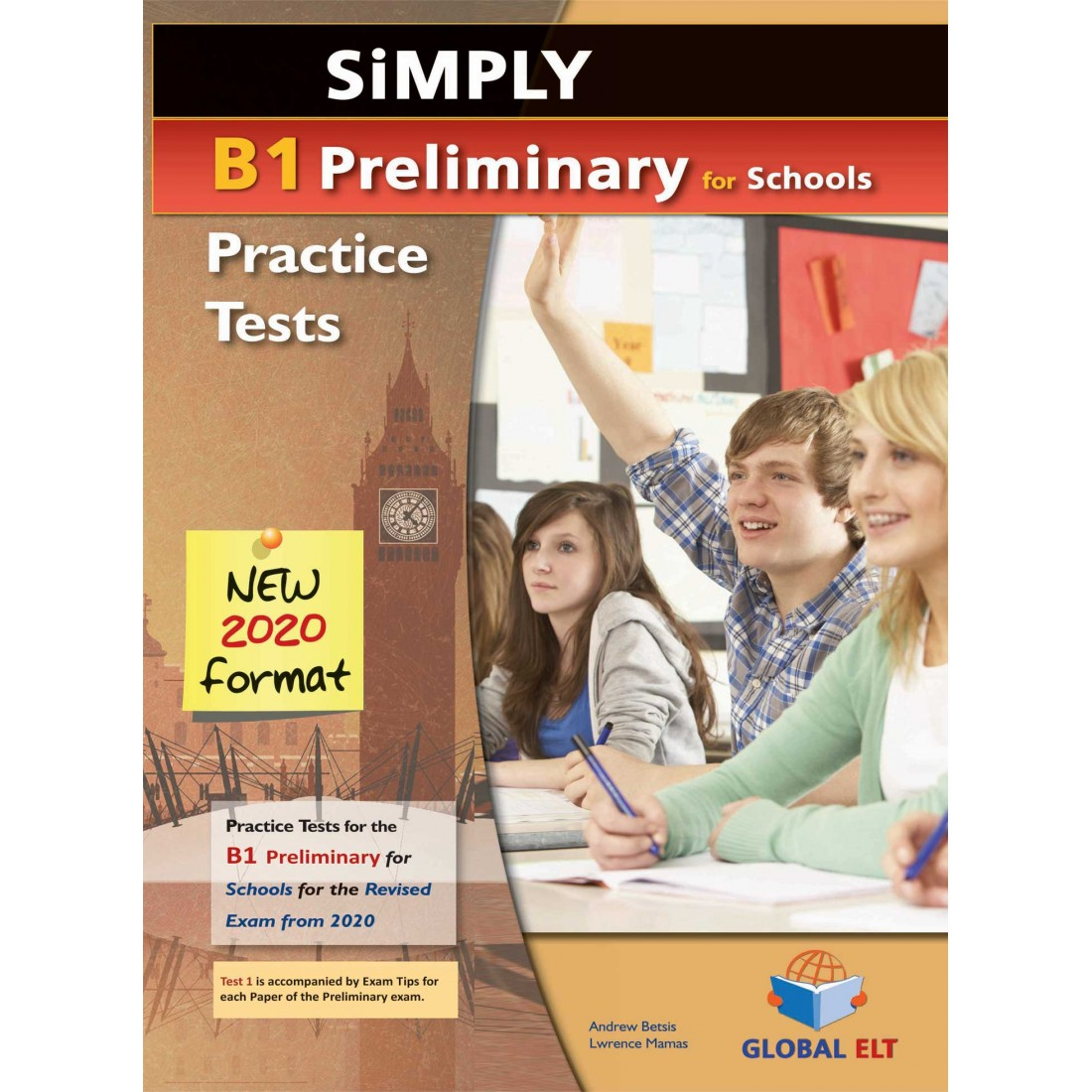 SIMPLY B1 PRELIMINARY FOR SCHOOLS 8 PRACTICE TESTS CD CLASS NEW 2020 FORMAT
