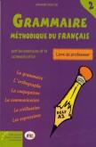 GRAMMAIRE METHODIQUE 2 PROFESSEUR